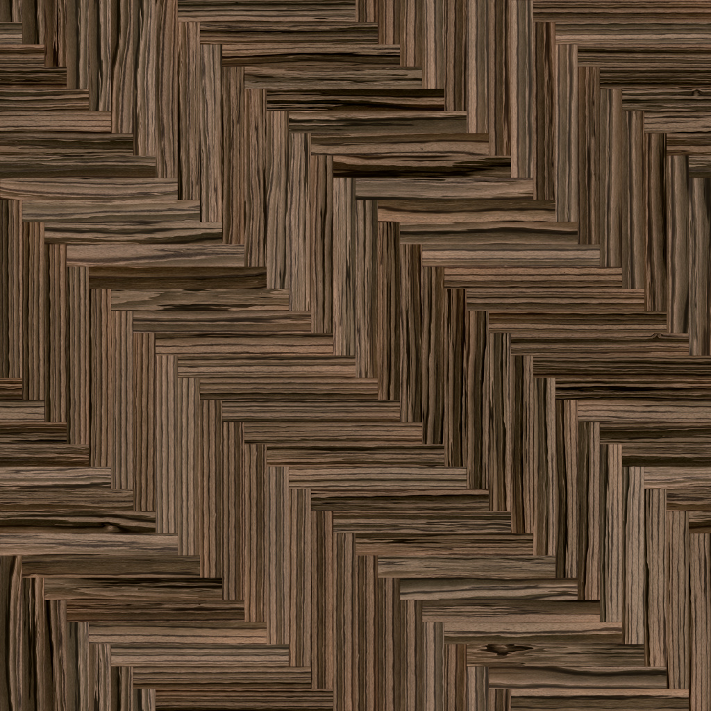 Zebrano Dark Long Herringbone BaseColor Texture