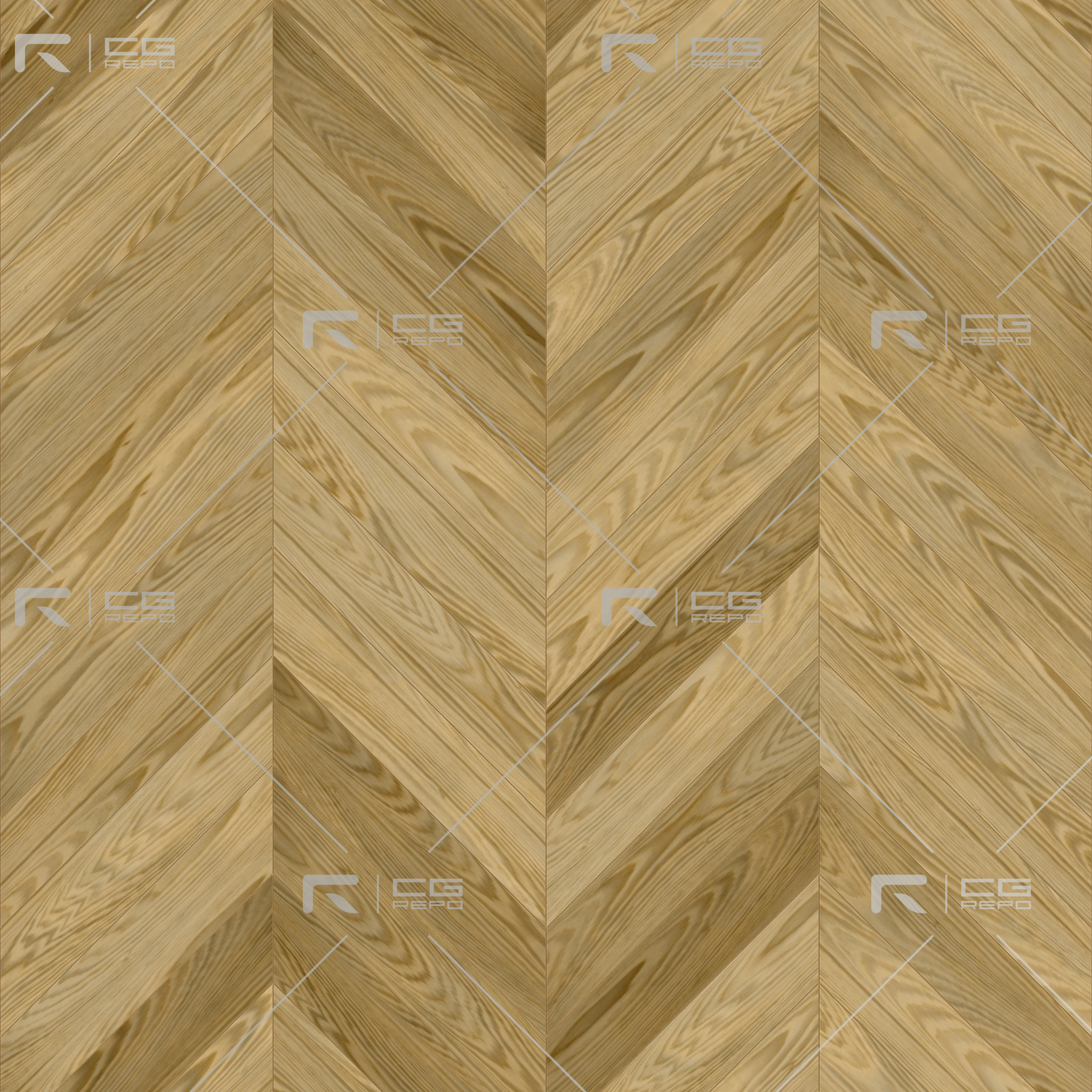 Oak American Natural Chevron BaseColor Texture