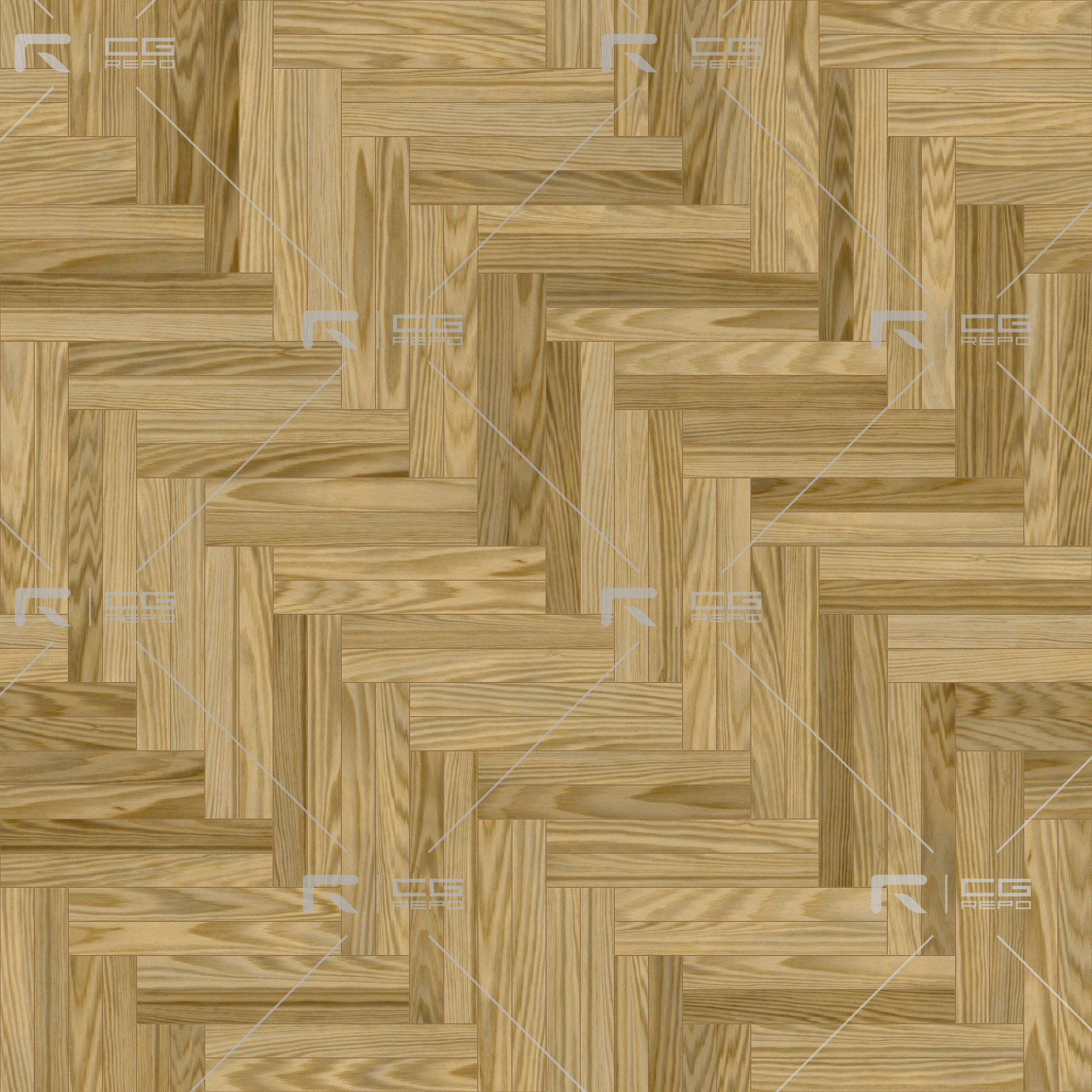 Oak American Natural Double Herringbone BaseColor Texture