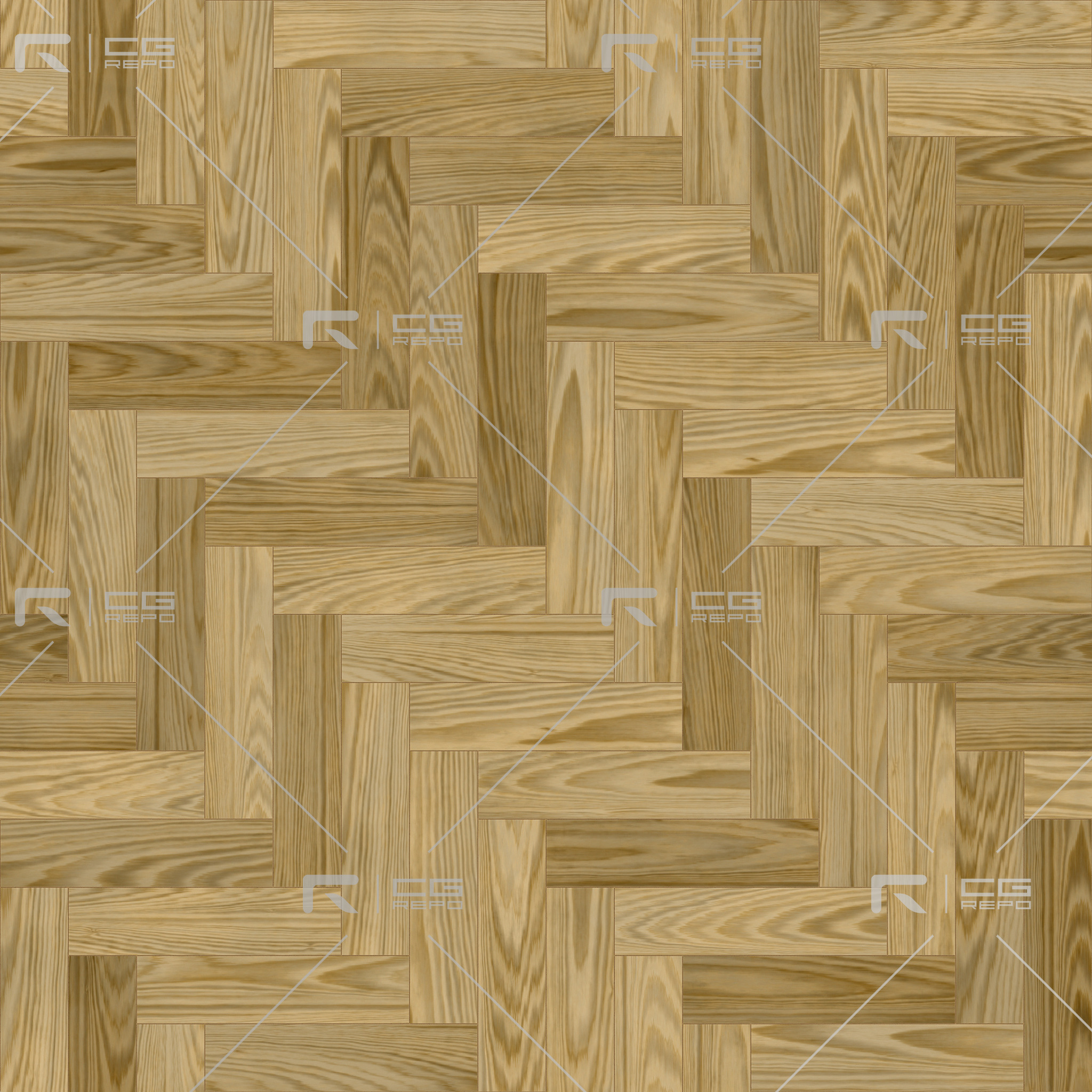 Oak American Natural Herringbone BaseColor Texture