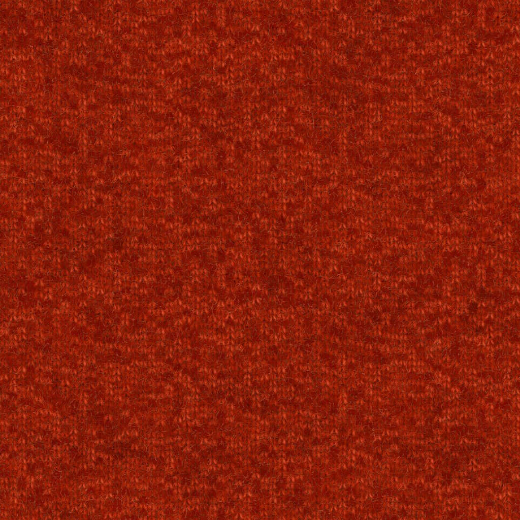 Knitted Wool Red BaseColor Texture
