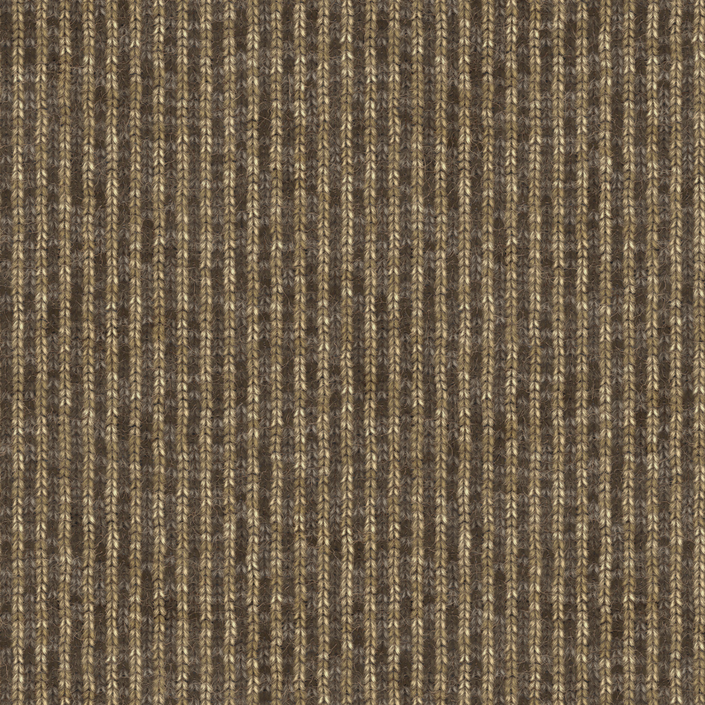Knitted Wool Vintage Stripes BaseColor Texture