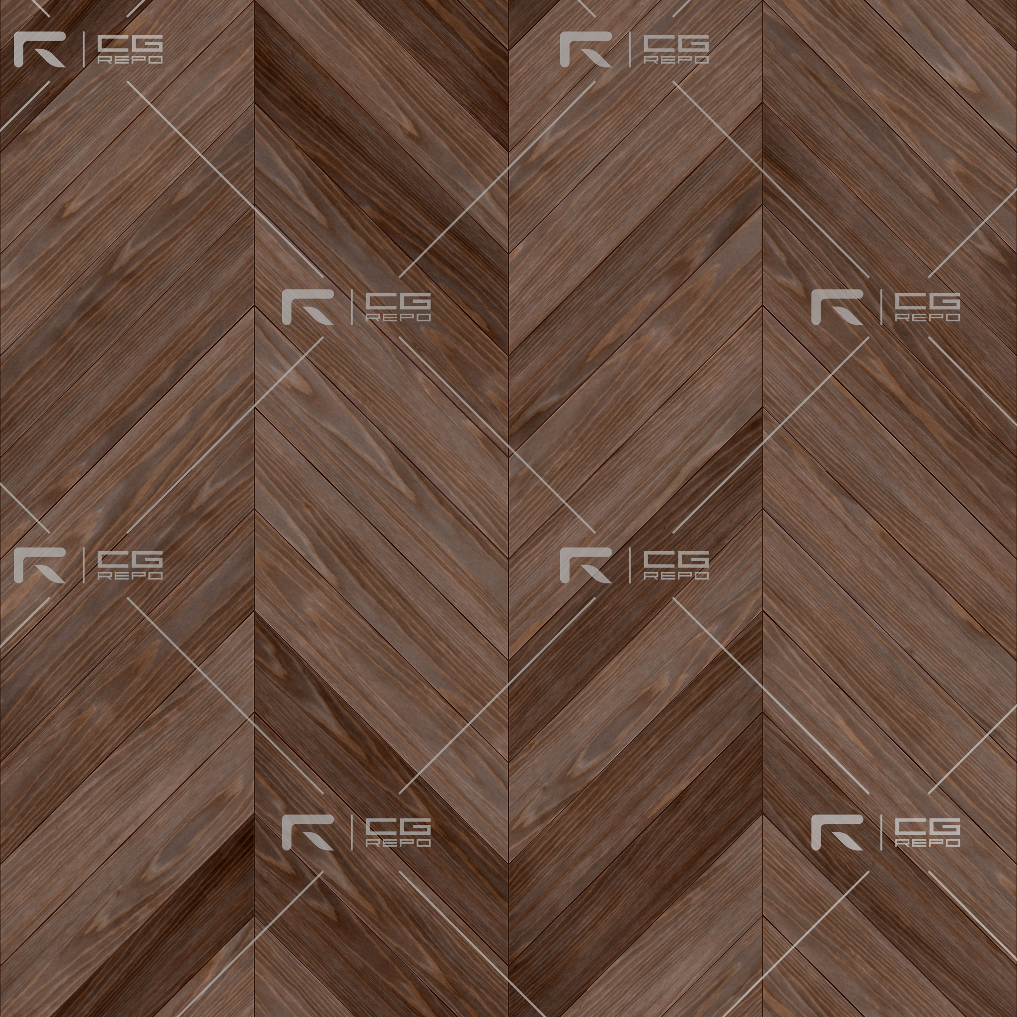 Oak English Brown Chevron BaseColor Texture