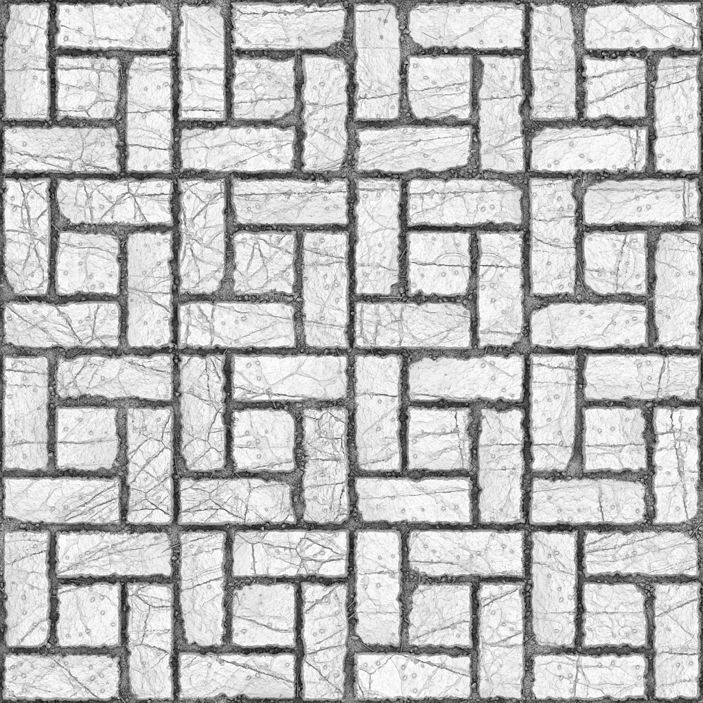 Alternating Stone Ground Ambient Occlusion Texture