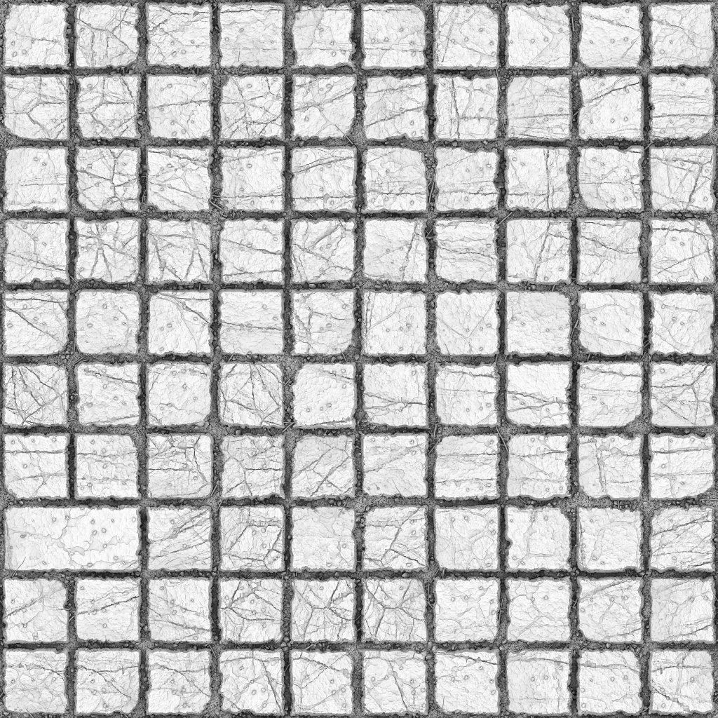 Squares Stone Ground Ambient Occlusion Texture