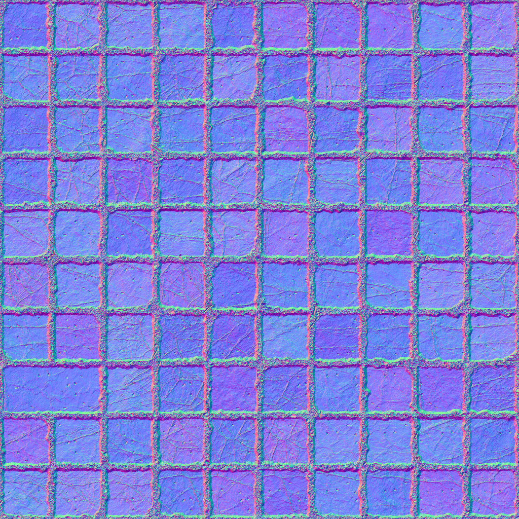 Squares Stone Ground Normal Texture