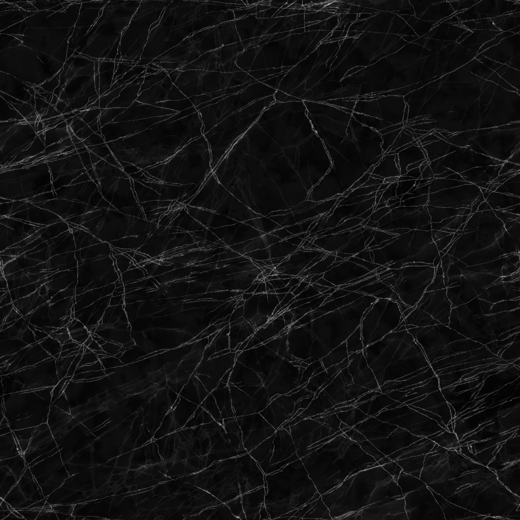 Marquina Black Polished Marble 2 BaseColor Texture