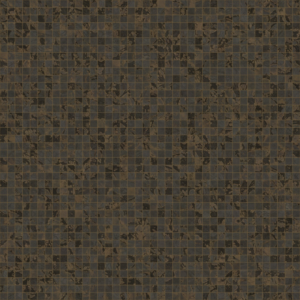 Dark Ash Travertino Squared-Mosaic BaseColor Texture
