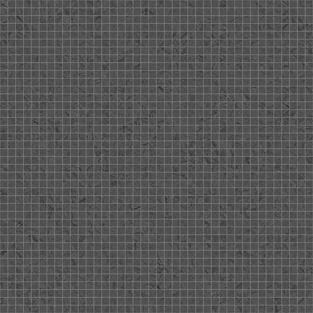 Dark Ash Travertino Squared-Mosaic Roughness Texture