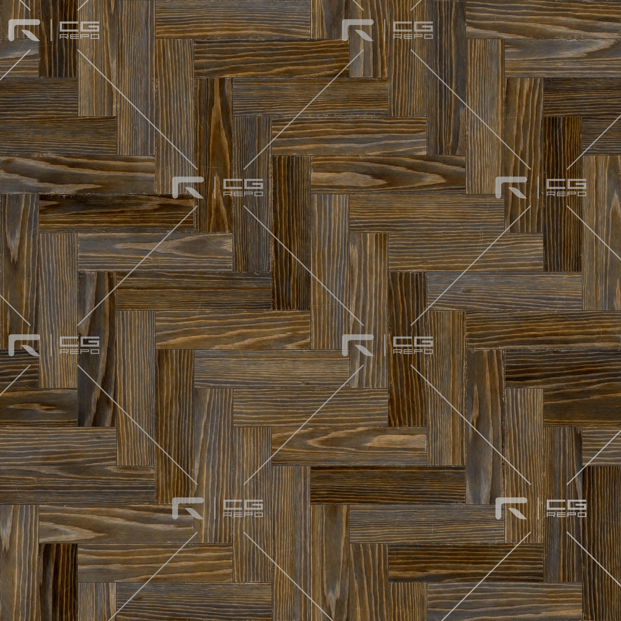 Oak English Antiqued Herringbone BaseColor Texture