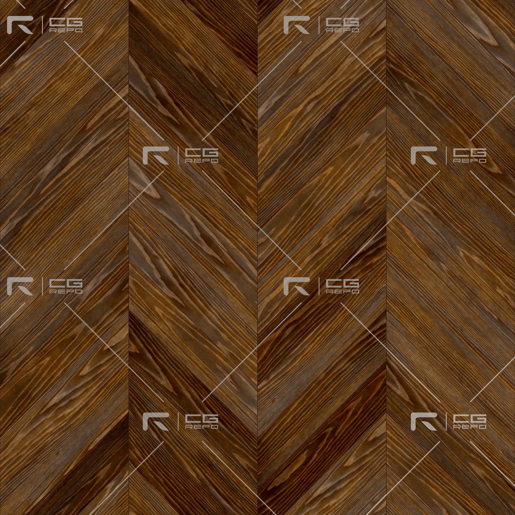 Oak English Dark Chevron BaseColor Texture