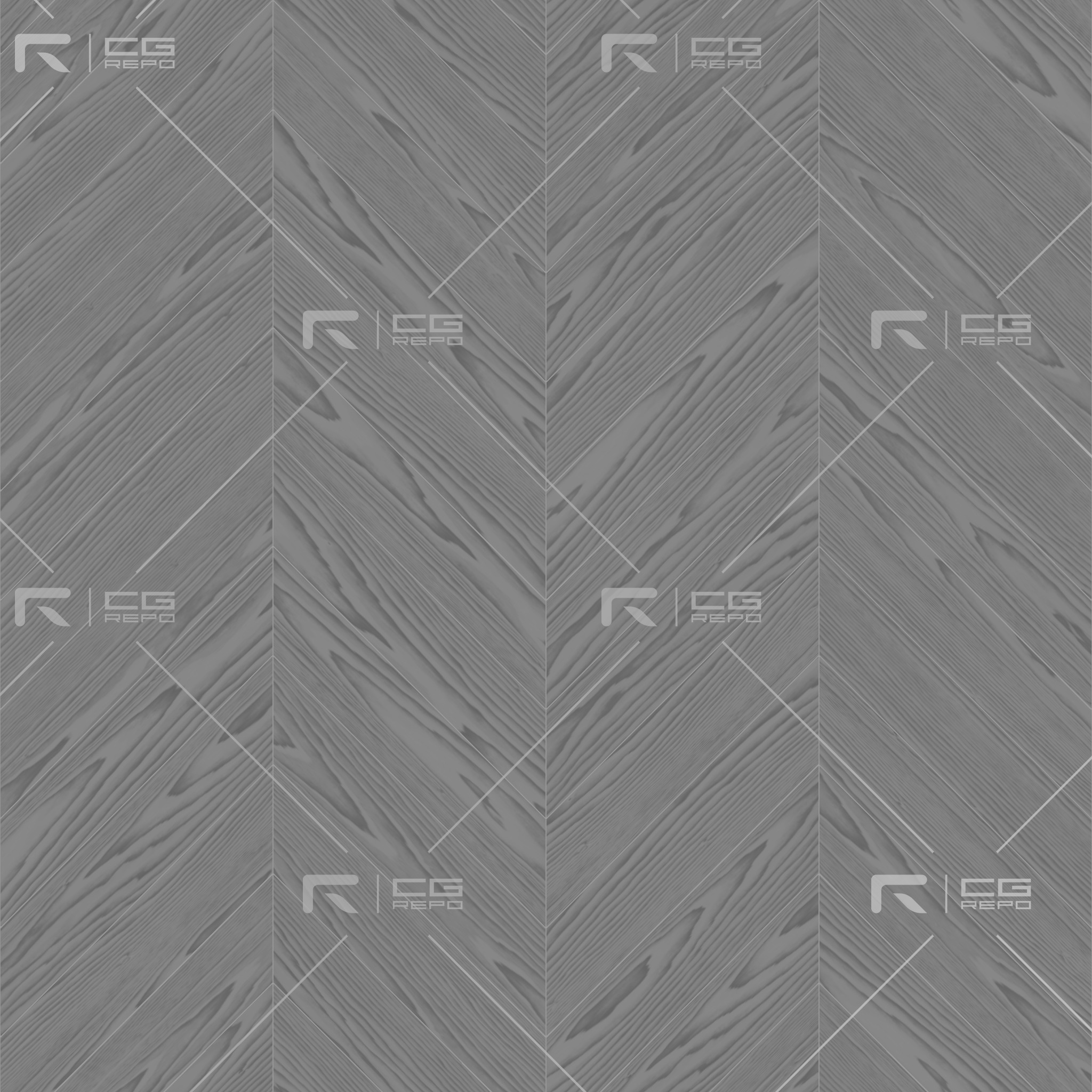 Oak English Dark Chevron Roughness Texture