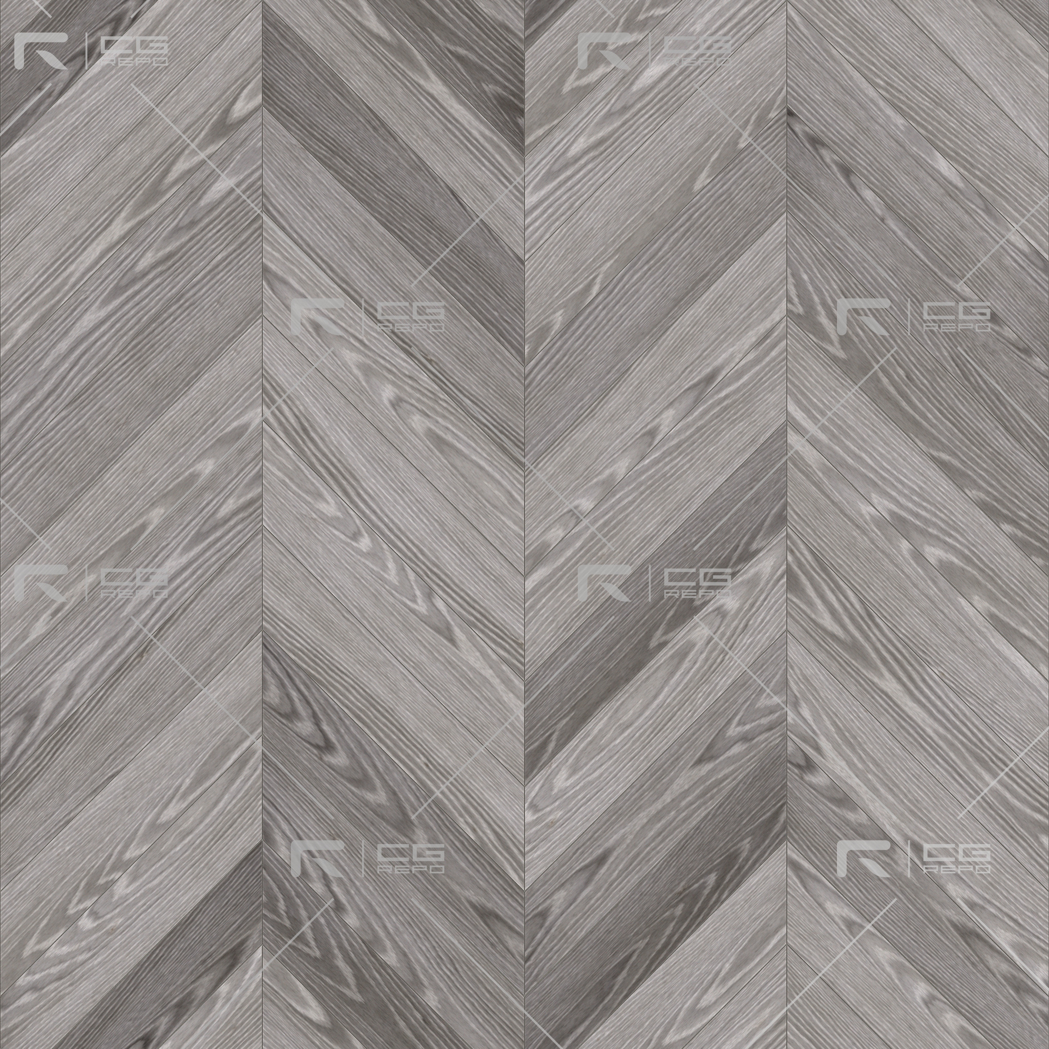 Oak European Light Ash Chevron BaseColor Texture