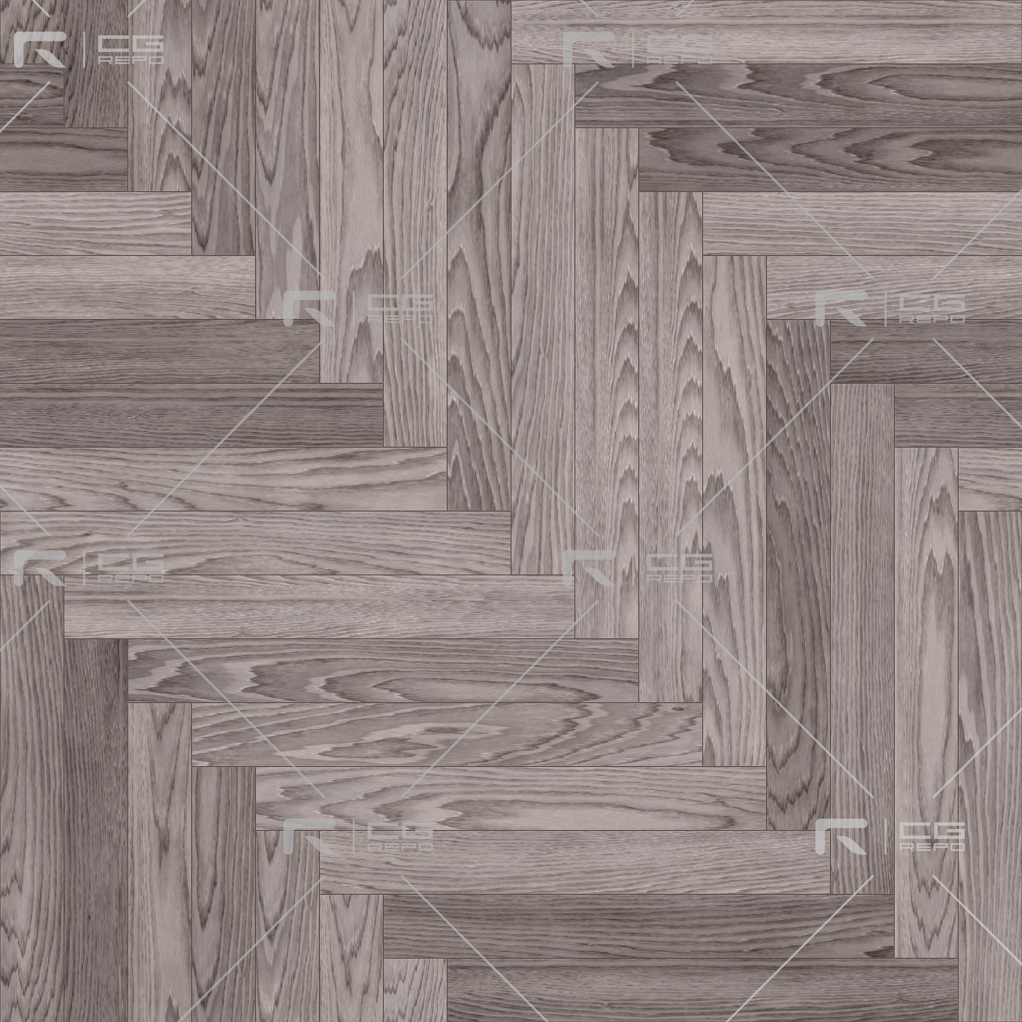 Oak Light Smoked Long Herringbone BaseColor Texture