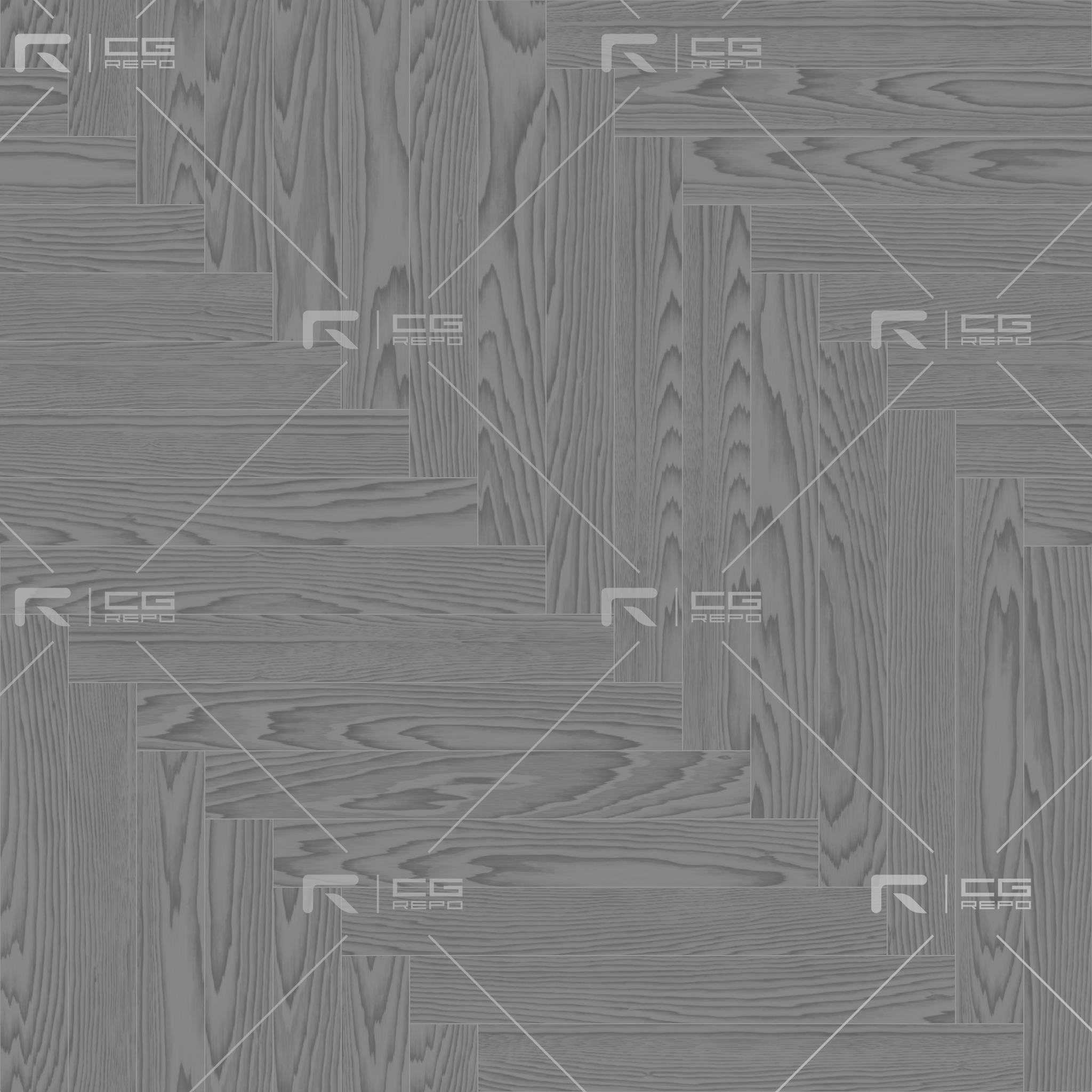 Oak Light Smoked Long Herringbone Roughness Texture