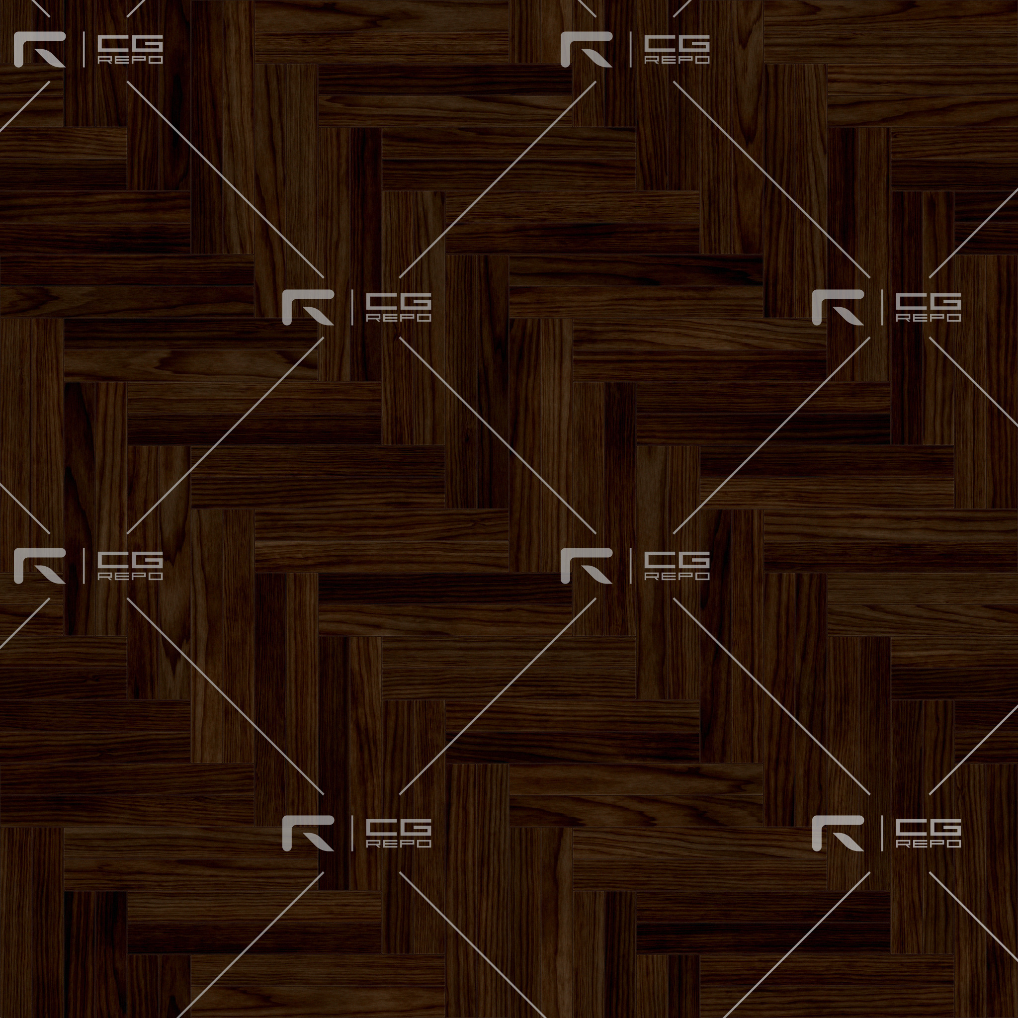 Walnut European Dark Double Herringbone BaseColor Texture