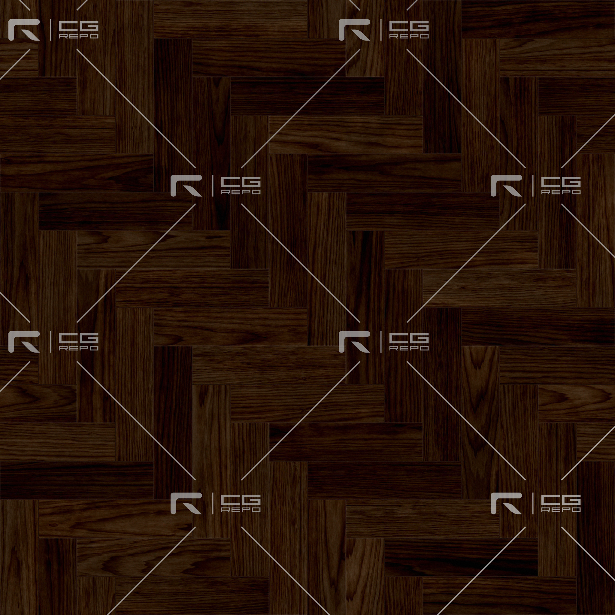 Walnut European Dark Herringbone BaseColor Texture