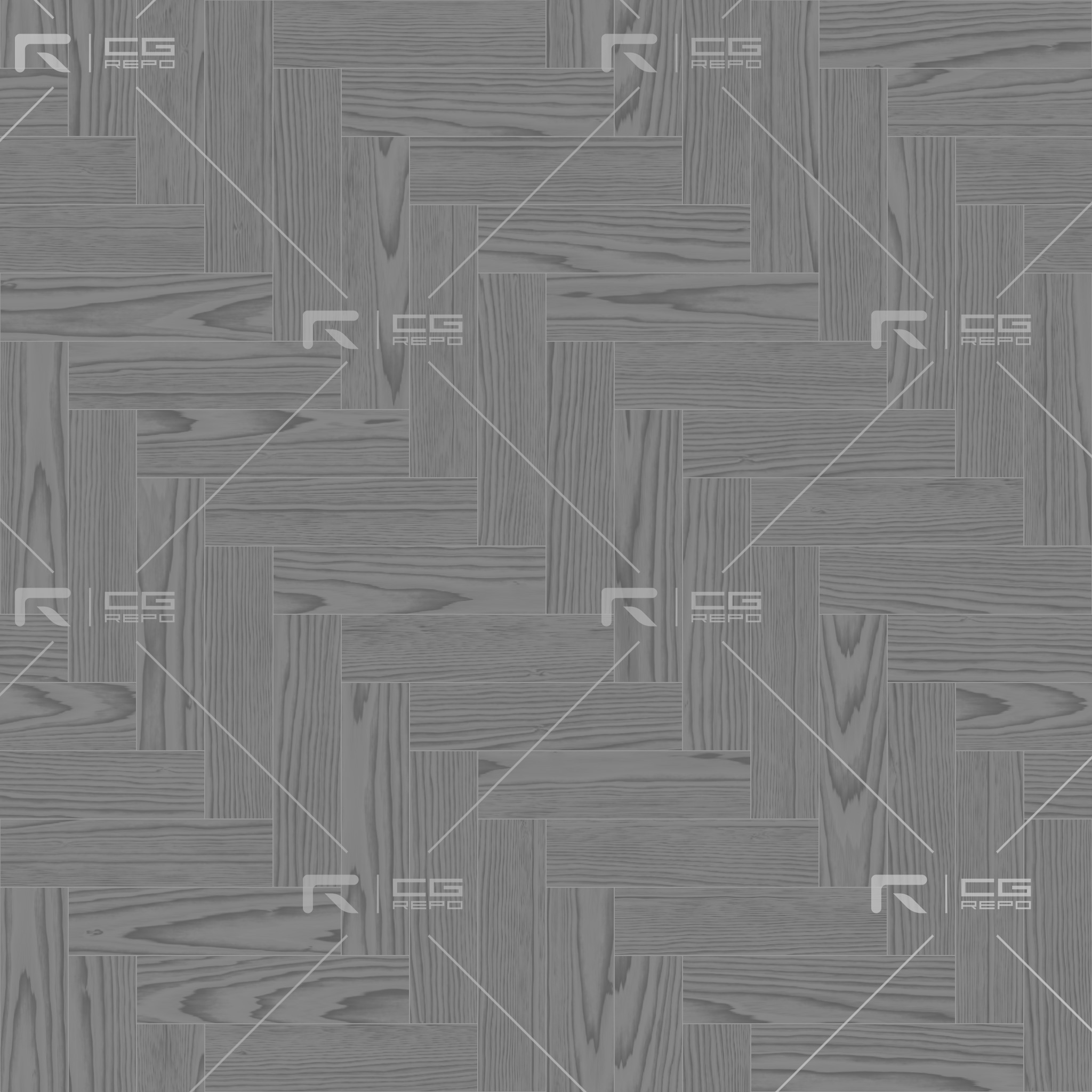 Walnut European Dark Herringbone Roughness Texture