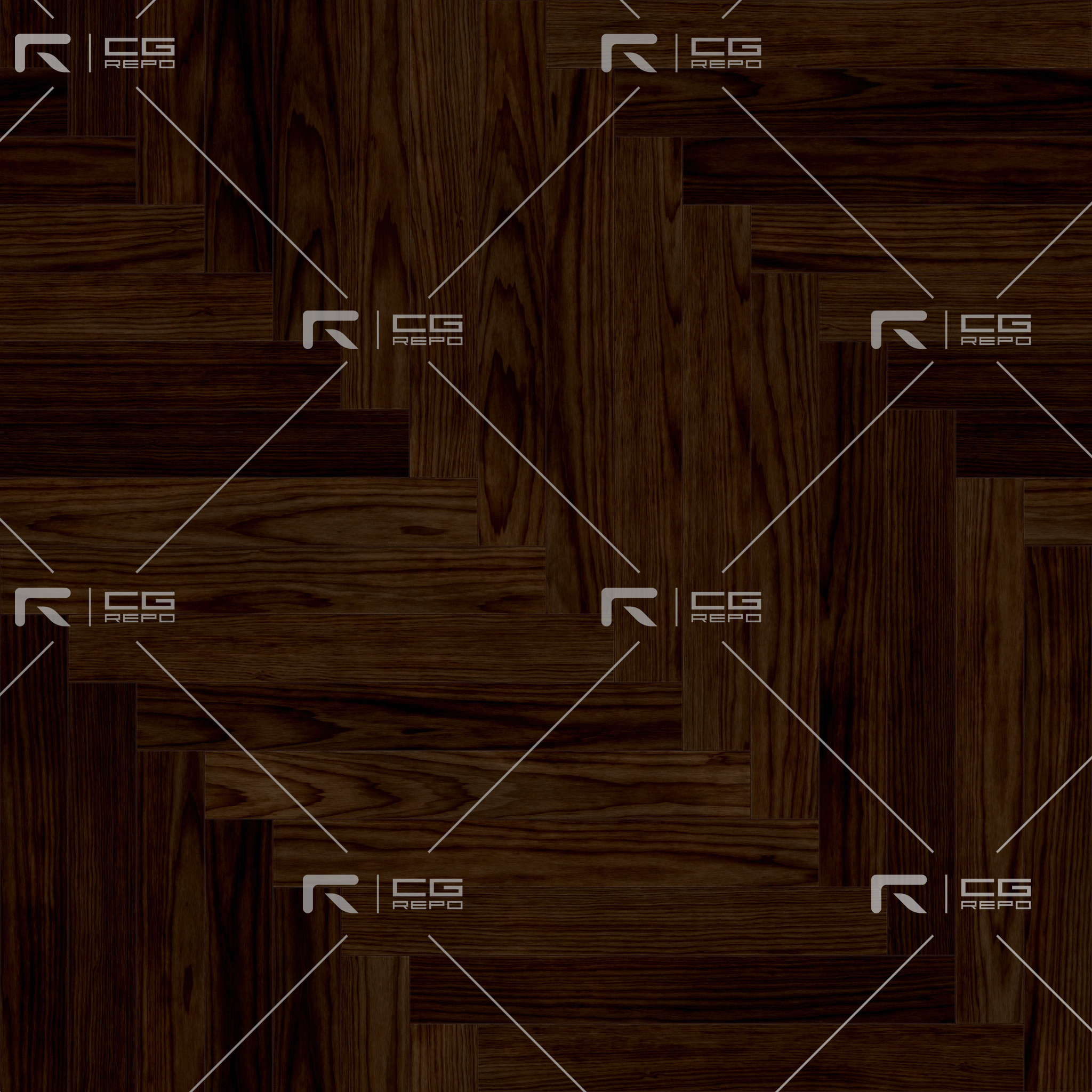 Walnut European Dark Long Herringbone BaseColor Texture