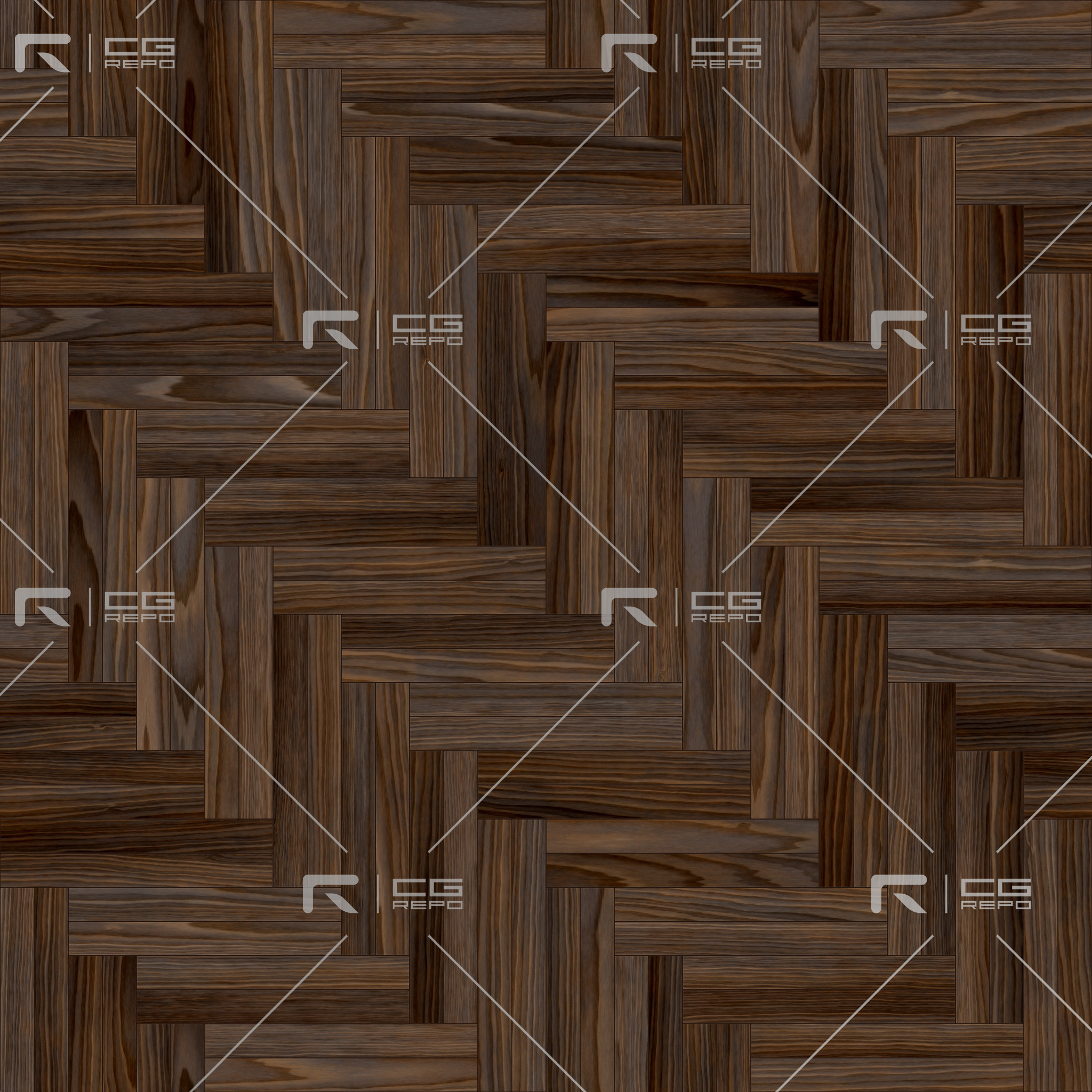 Walnut European Natural Double Herringbone BaseColor Texture
