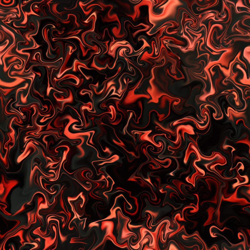 Red Curly Resin Pour BaseColor Texture