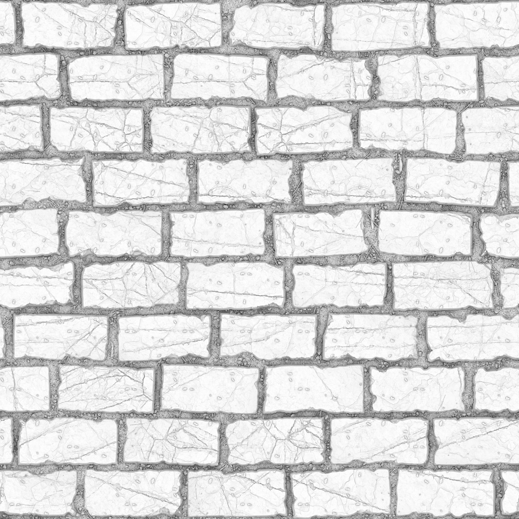 Running Stone Ground Ambient Occlusion Texture