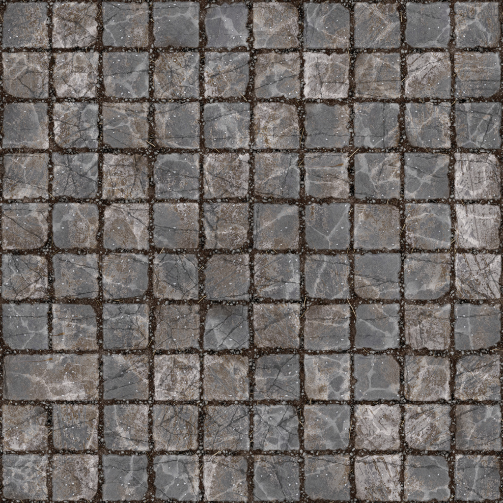 Squares Stone Ground BaseColor Texture
