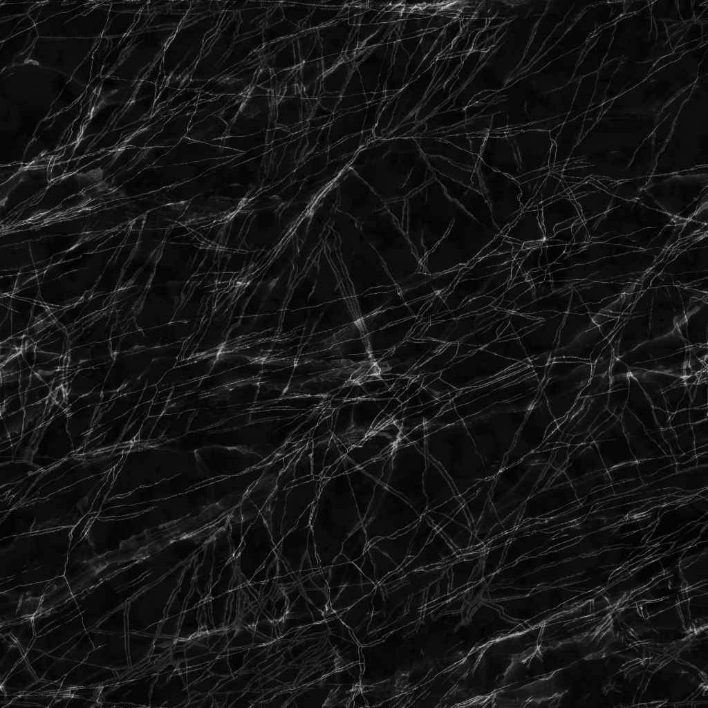 Marquina Black Polished Marble BaseColor Texture