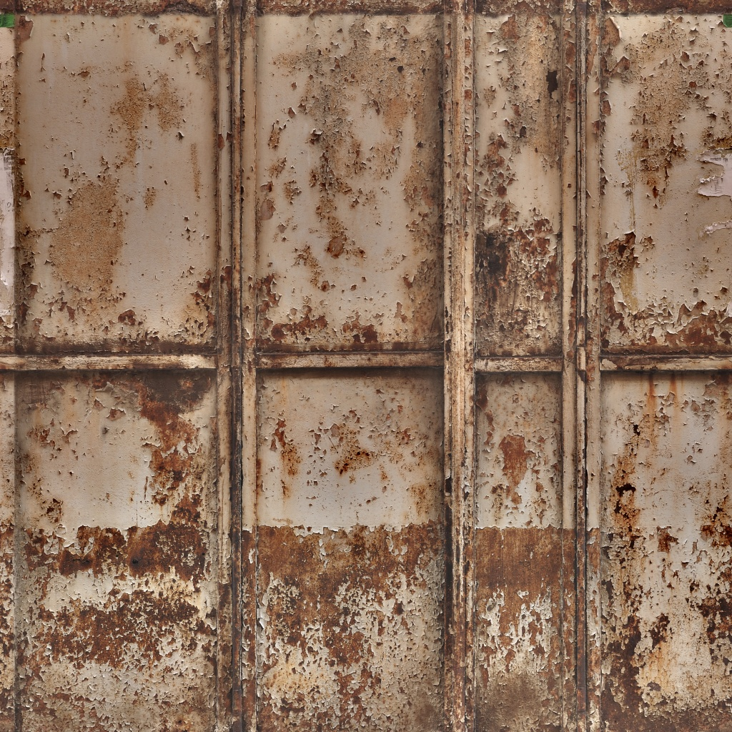 Paint and Rust Metal Panels BaseColor Texture
