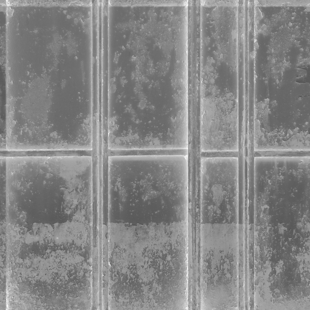 Paint and Rust Metal Panels Roughness Texture