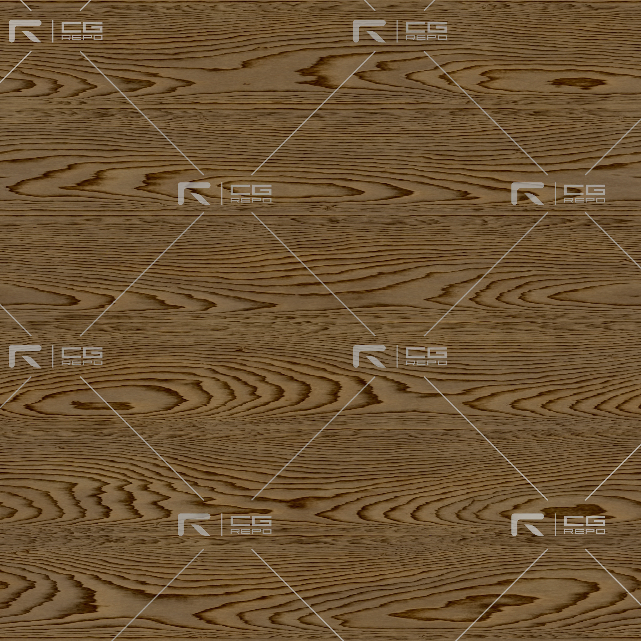 Oak - White Thin Laquered - Flat BaseColor Texture