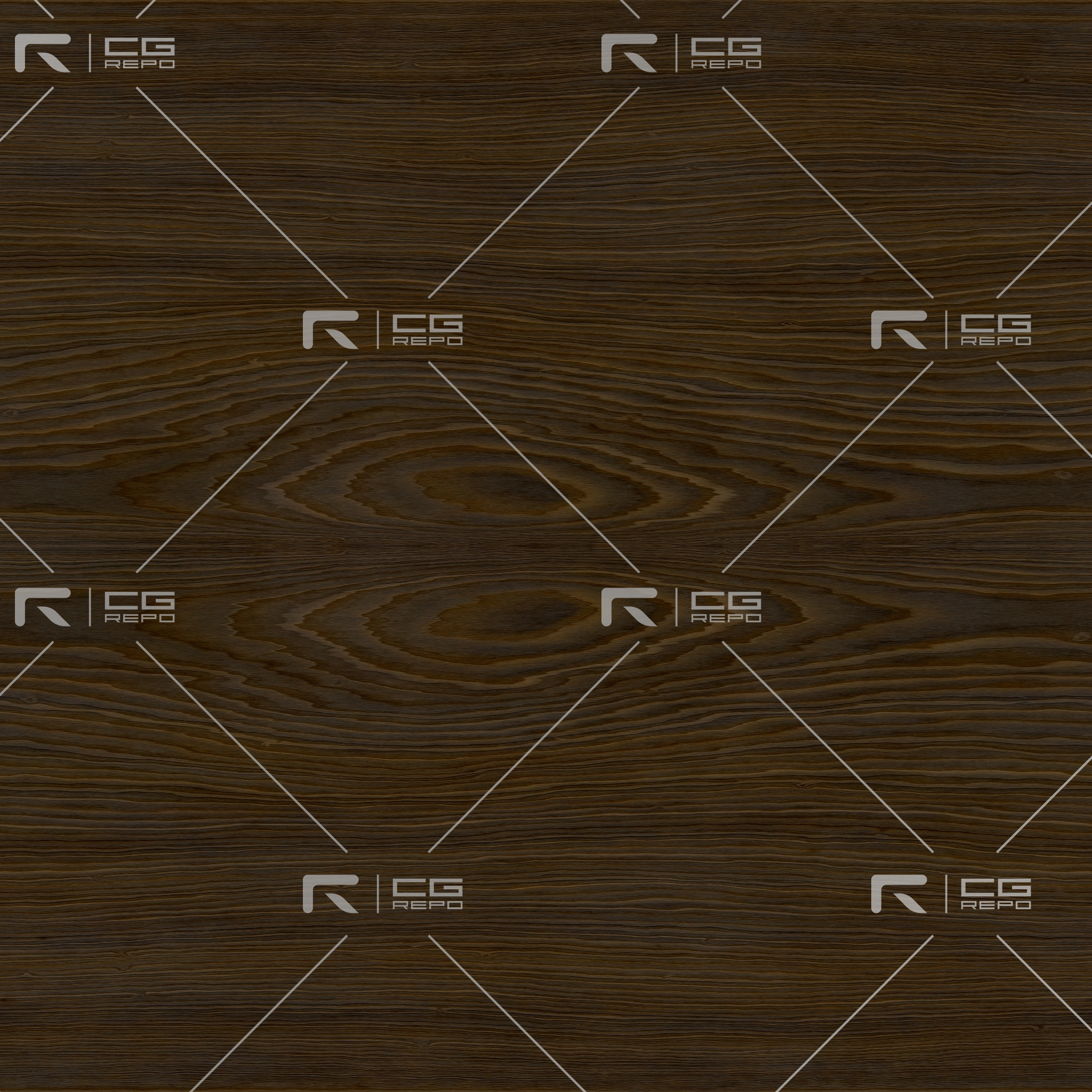 Walnut - Oxidated - Mirrored Figured Wood BaseColor Texture