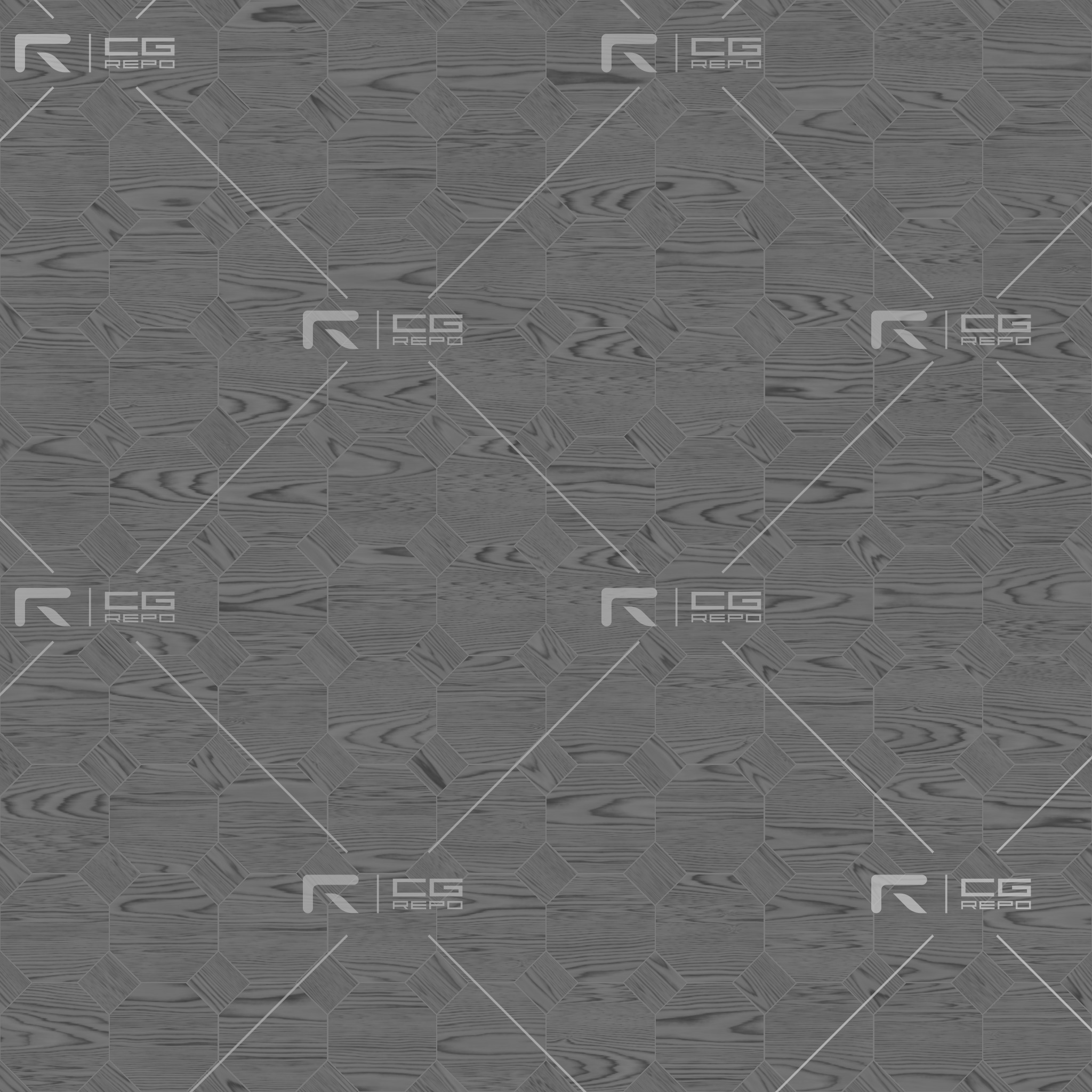 Ash Black Octagons Roughness Texture