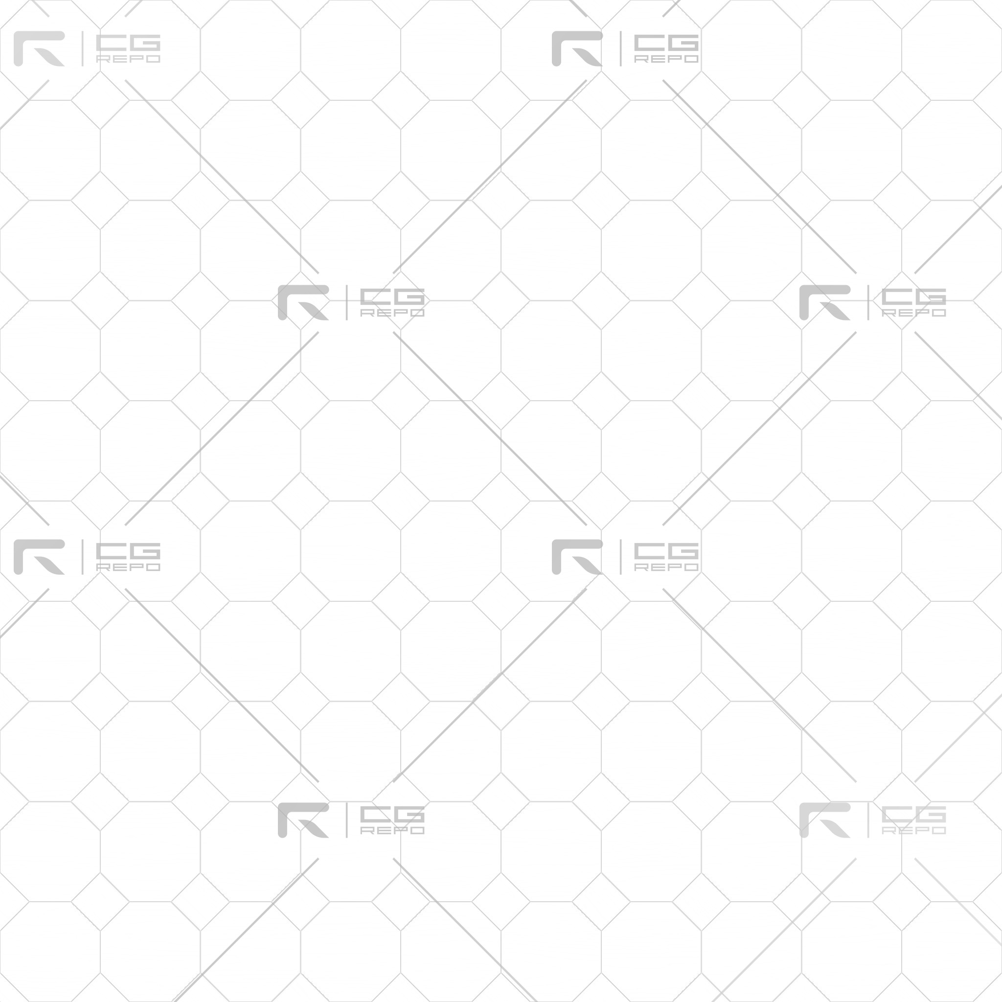 Ash White Octagons Ambient Occlusion Texture