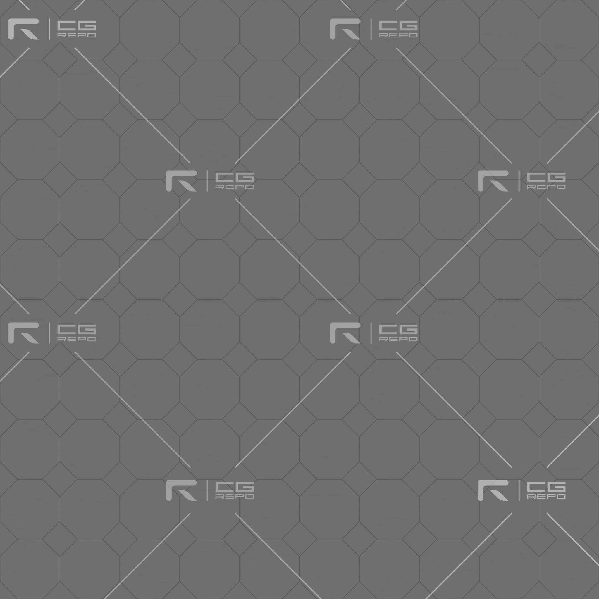 Ash White Octagons Height Texture