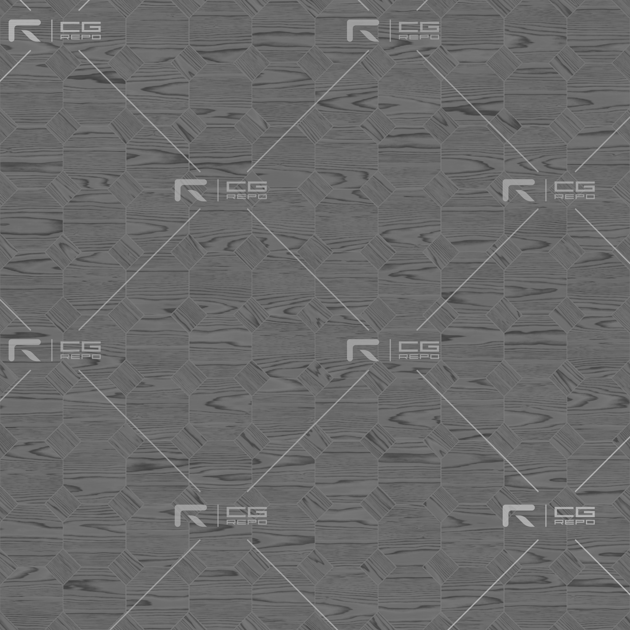 Ash White Octagons Roughness Texture