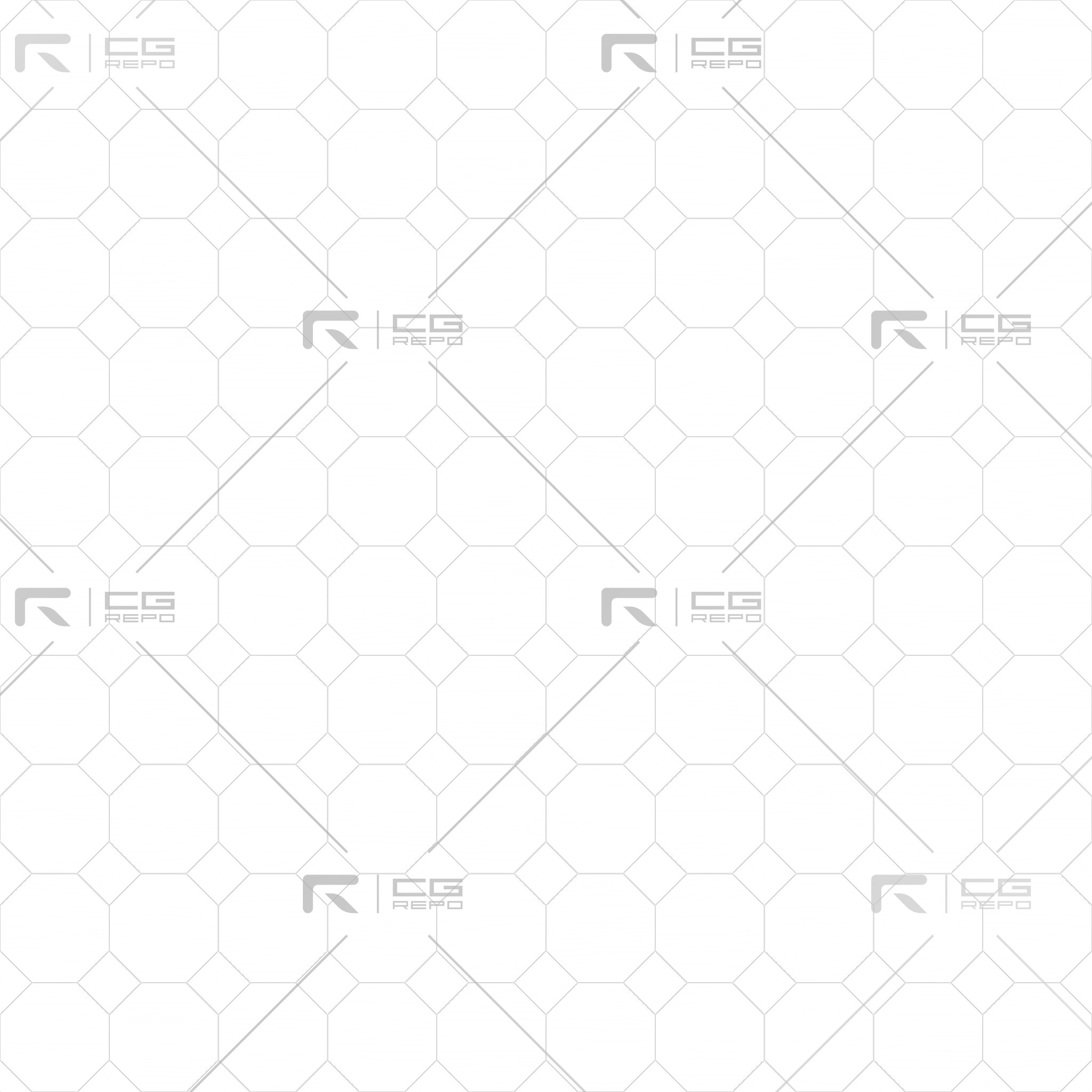 Cherry Golden Octagons Ambient Occlusion Texture