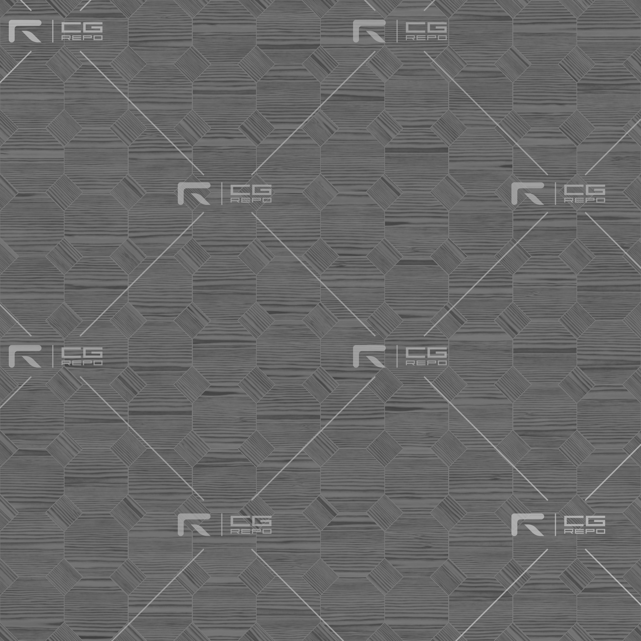Ebony Natural Octagons Roughness Texture